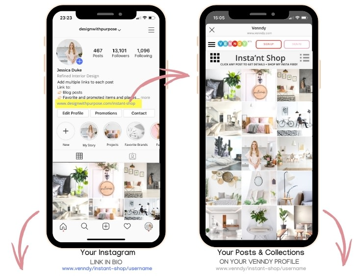 How to add a linkable shoppable gallery for home decor creators bloggers and Instagrammers