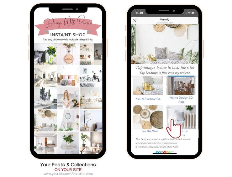 Adding a shoppable gallery to your home decor and interior design blog