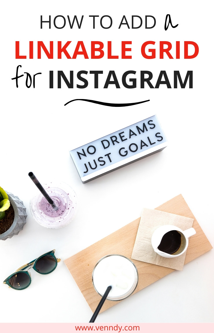 How to add a linkable grid for Instagram